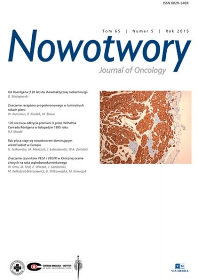 Czasopismo 'Nowotwory. Journal Of Oncology'